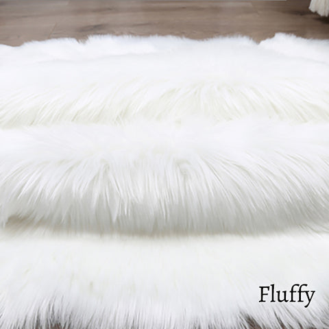 Deluxe Fine and Soft Faux Sheepskin Rug_Fluffy
