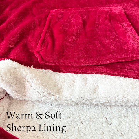 Soft Oversized Microfiber Wearable Hooded Blanket_Sherpa Lining