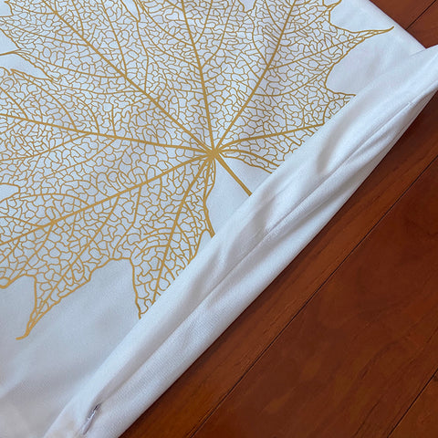 Velvety Gold Print Cushion Covers on White