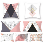 "Thin Soft Granite Pattern Pink & Gray Velvet Cushion Covers with Invisible Zippers 45x45cm (17""x17"") / 30x50cm (13""x19"")"