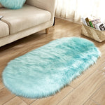 Deluxe Fine and Soft Faux Sheepskin Rug_Blue
