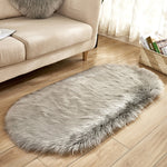 Deluxe Fine and Soft Faux Sheepskin Rug_Light Grey