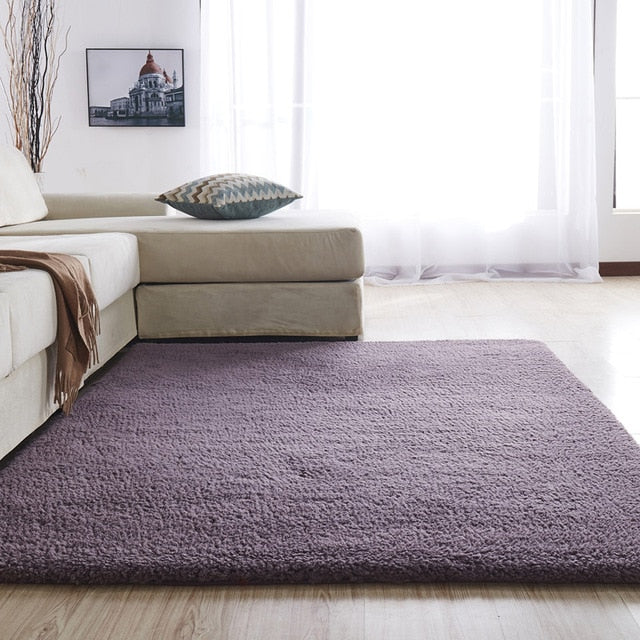Airy Delicate Microfiber Area Rug_Purple
