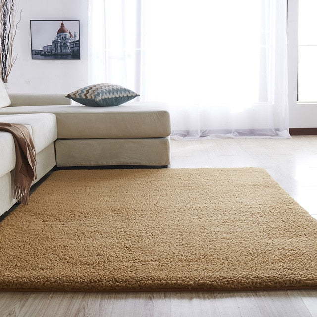 Airy Delicate Microfiber Area Rug_Coffee