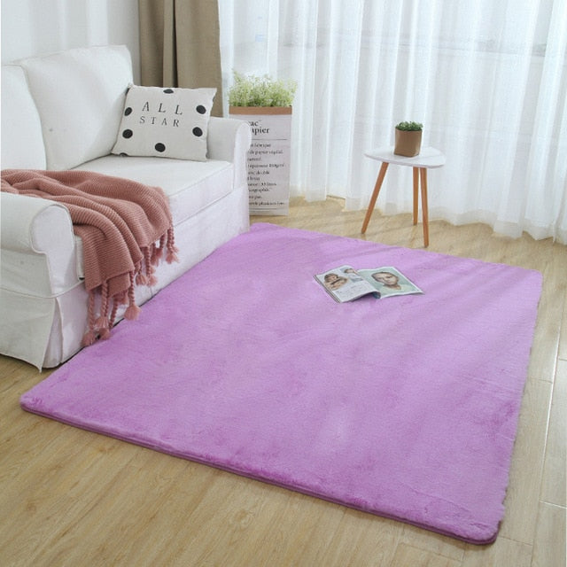 Extra Thick Nordic Faux Fur Microfiber Rug