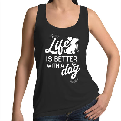 Life is Better With a Dog - Women's Black Singlet