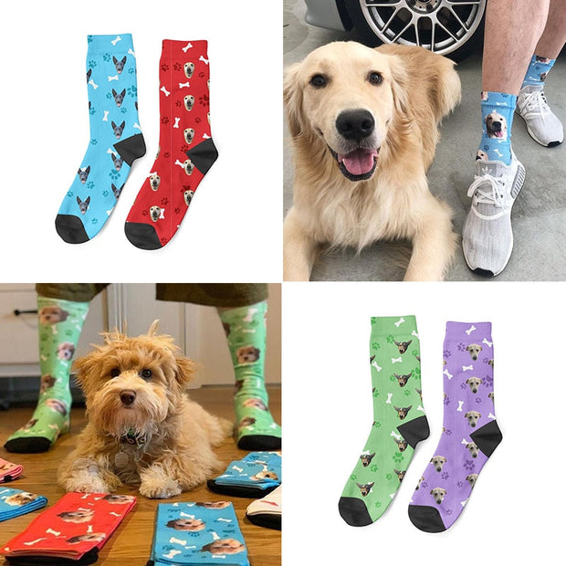 Custom Photo Dog Socks