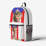 GirlPR FlowPR Retro Colorful Print Trendy Backpack