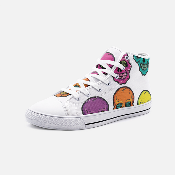 Colorskull Unisex High Top Canvas Shoes FlowPR