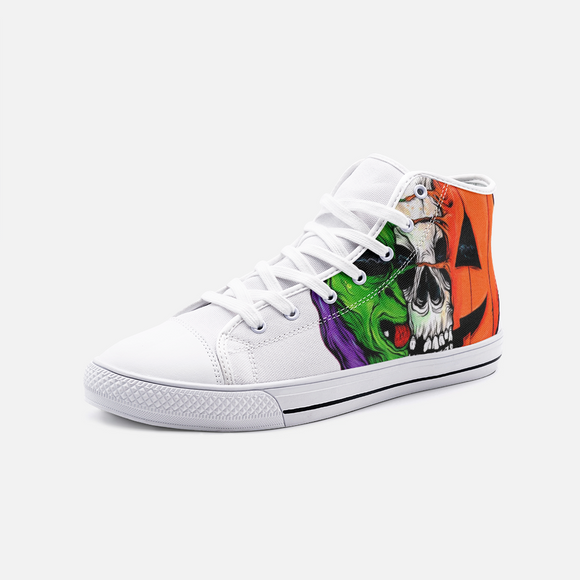WITCHSKESQUASH Unisex High Top Canvas Shoes FlowPR