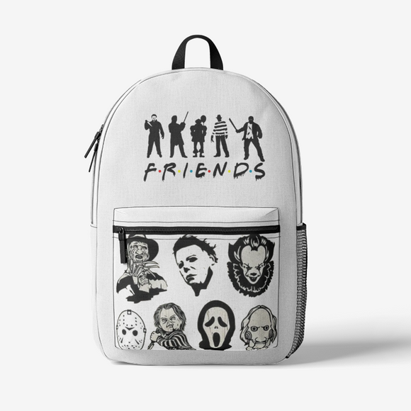 FRIENDS Retro Colorful Print Trendy Backpack FlowPR