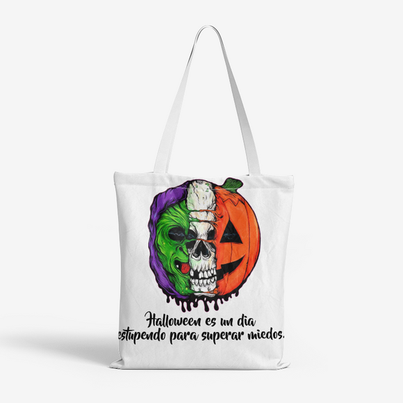 Superar Miedos Natural Canvas Tote Bags FlowPR