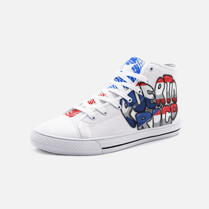 Mi Huella FlowPR Unisex High Top Canvas Shoes
