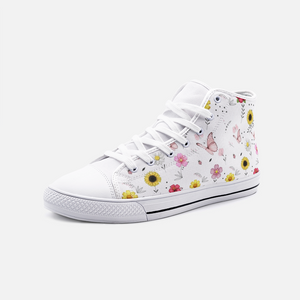 GARDEN Unisex High Top Canvas Shoes FlowPR