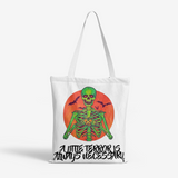 A Little Terror... Natural Canvas Tote Bags FlowPR