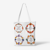 Enjoy Halloween Natural Canvas Tote Bags FlowPR