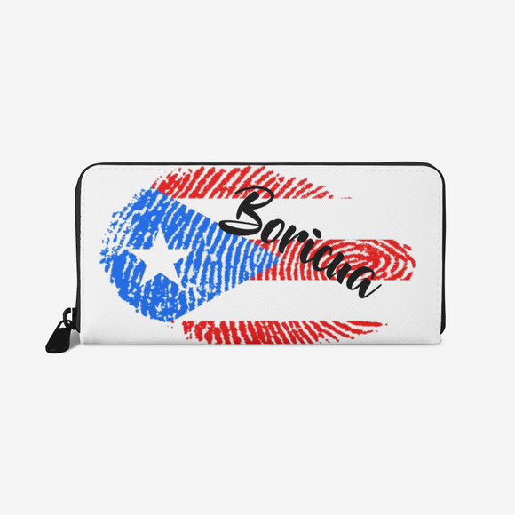 HuellaBoricua Leather Wallet FlowPR