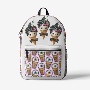 Too Sweet Ice Cream Retro Colorful Print Trendy Backpack