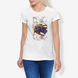 Sander's Flowers Women's Cotton Stretch CrewNeck T-Shirt FlowPR