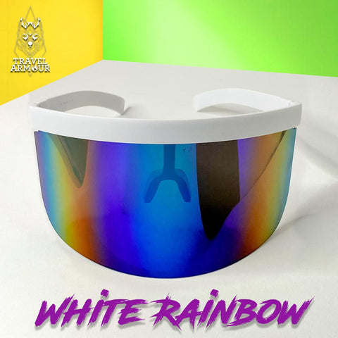 MOON SHIELD - SUNGLASSES - WHITE RAINBOW