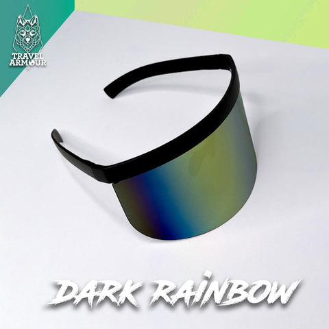 MOON SHIELD - SUNGLASSES - DARK RAINBOW
