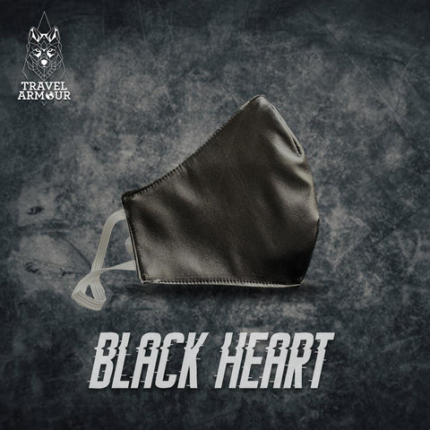MASK - BLACK HEART