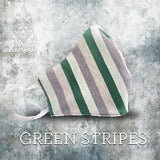 MASK - GREEN STRIPES