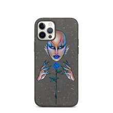 Load image into Gallery viewer, Blue Rose Biodegradable phone case
