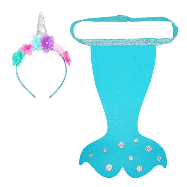 Narwhal Headband & Tail Set - shop.pinkpoppy-usa.com