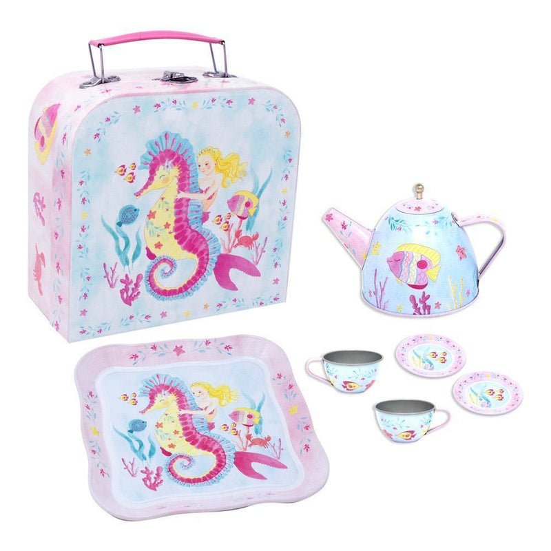 Wish Upon A Starfish Tin Teaset In Mcase