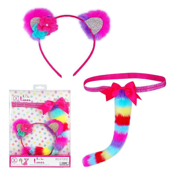 Rainbow Lemur Ear & Tail Set - shop.pinkpoppy-usa.com