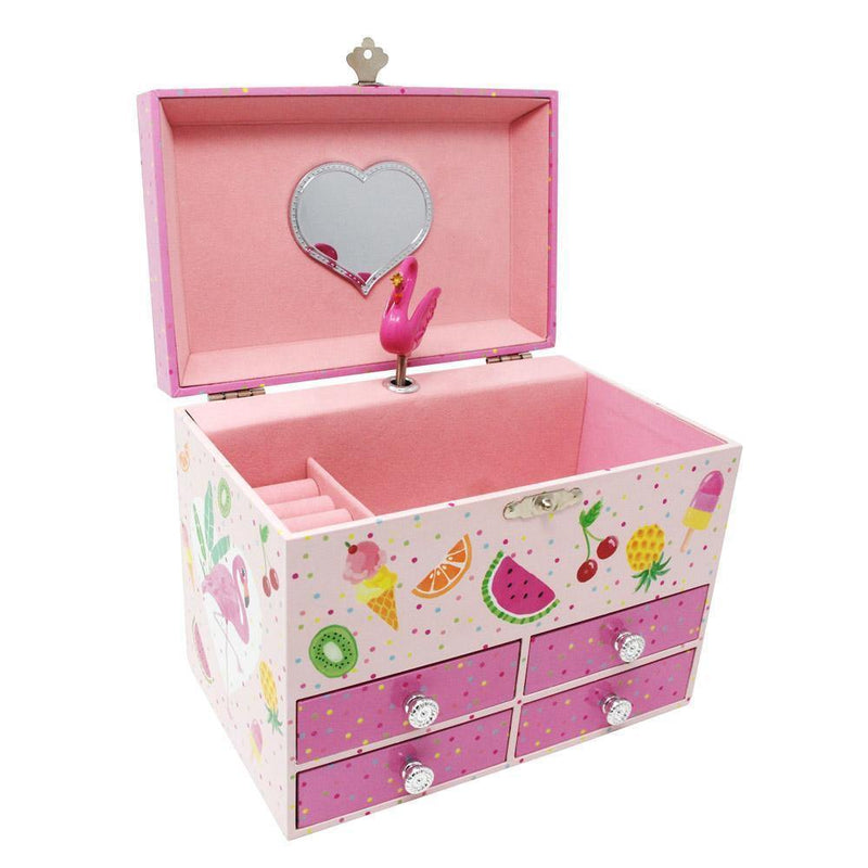 Fabulous Flamingo Medium Music Box-Pink