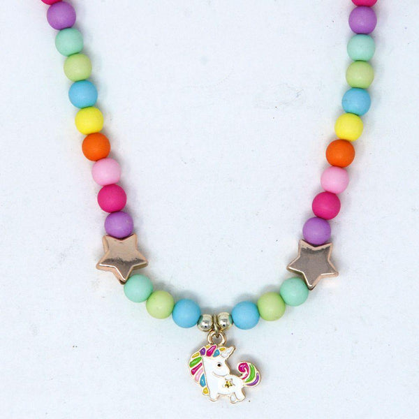 Little Unicorn Necklace & Bracelet Set - shop.pinkpoppy-usa.com