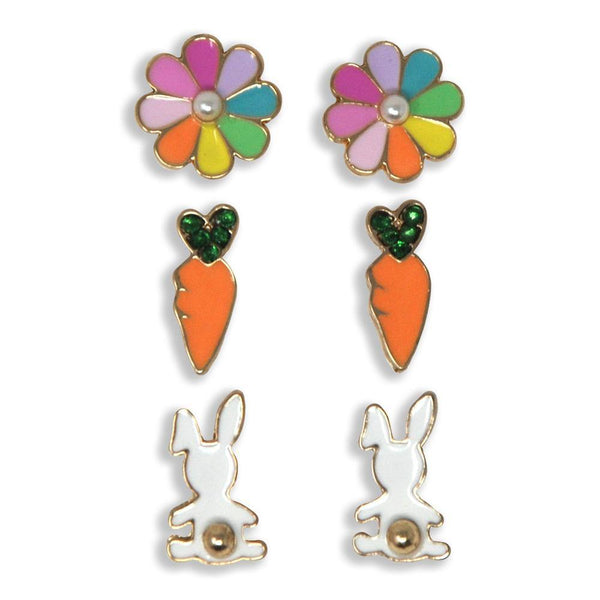 Bunny Garden Earrings Set Of 3