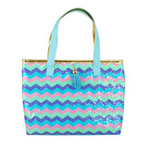 Sequin Sparkle Mini Tote Bag-Blue