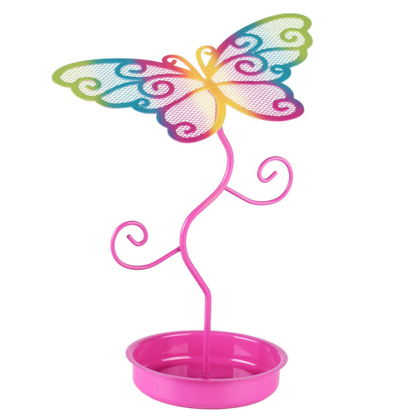 Colourful Butterfly Earring Stand-Hpink