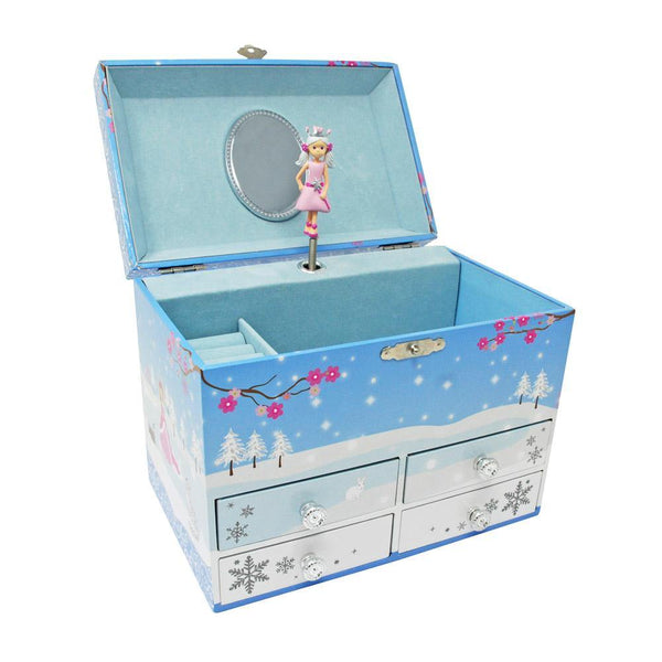 Snow Princess Medium Music Box-Blue