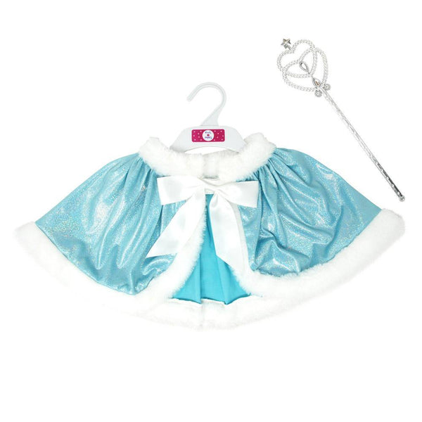 Snow Princess Cape And Wand Set-One Size - shop.pinkpoppy-usa.com