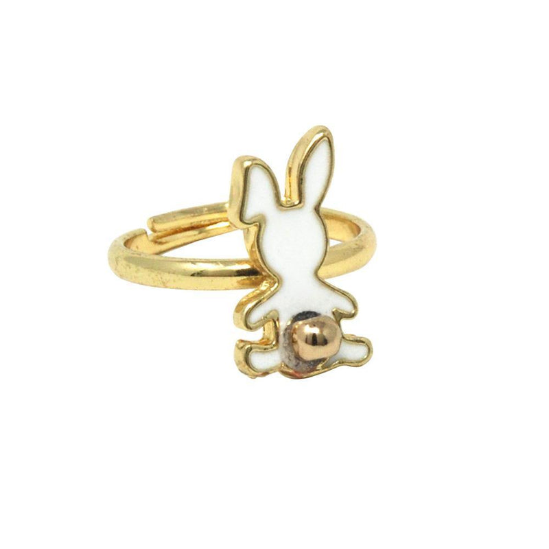 Bunny Garden Adjustable Ring Set Of 3