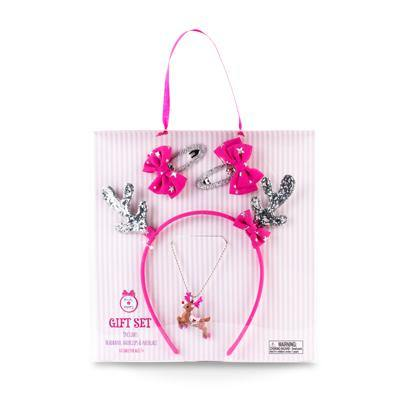 Reindeer Accessory Gift Set-Hot Pink