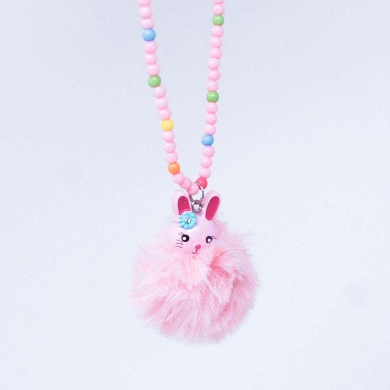 Pom Pom Bunny Necklace