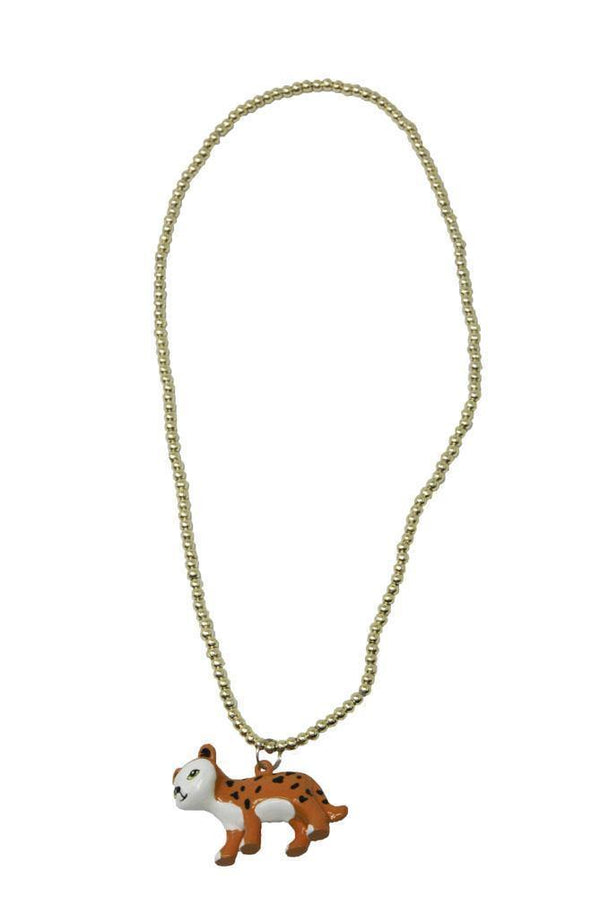 Leopard Ball Chain Necklace