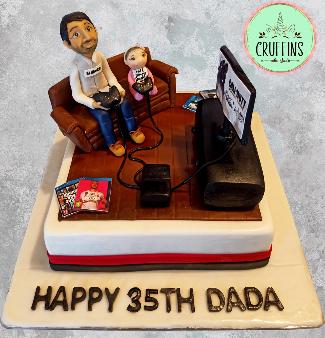 Cakelicious Birthday Cake For A Father Daughter Duo Facebook