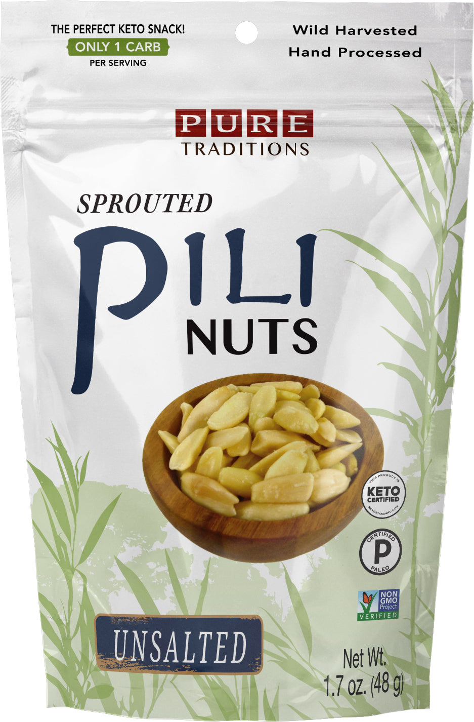 Sprouted Pili Nuts, Unsalted