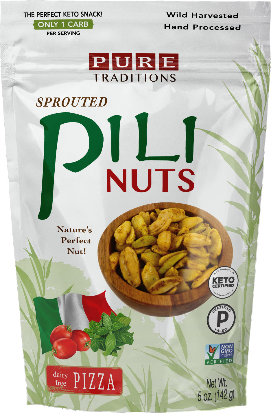 Sprouted Pili Nuts, Pizza