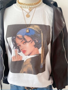Rihanna With A Pearl Earring Tshirt