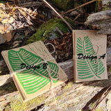 Cards - Leaf D2 Brown Green
