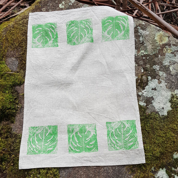 Tea Towel - Leaf Design 1 Horizontal