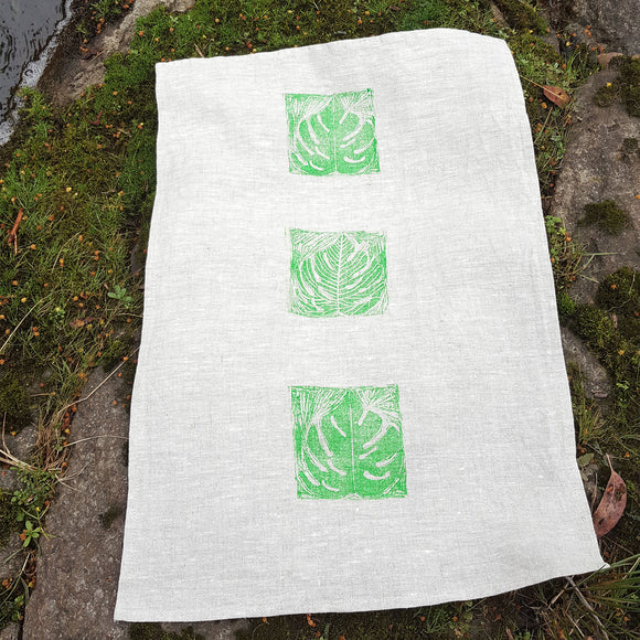 Tea Towel - Leaf Design 1 Vertical