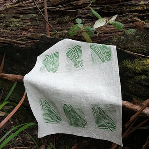 Tea Towel - Leaf Design 2 Horizontal